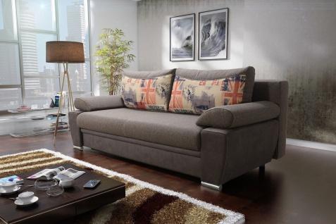 KONGO Sofa Couchgarnitur Couch Sofagarnitur Jugendcouch Schlaffunktion