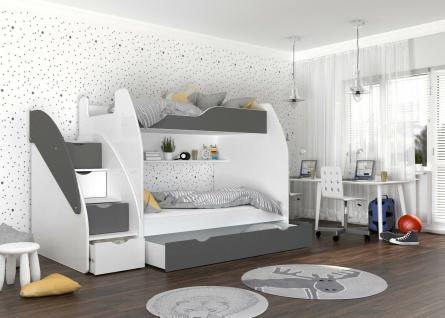 Etagenbett Hochbett Kinderbett SUSI ZU 1202 Doppelstockbett Bett Farbauswahl NEU