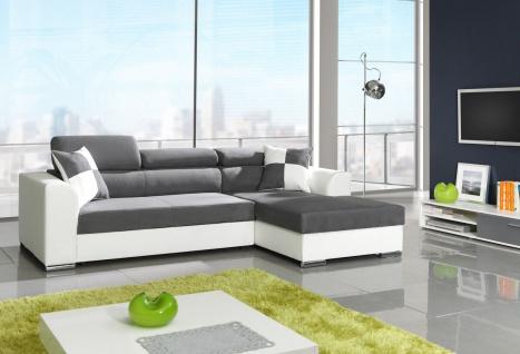 Couch Couchgarnitur Sofa Garnitur Schlafsofa MIRAMBA mit Schlaffunktion L Form