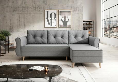 Sofa Couch Garnitur Sofagarnitur NEAPEL L mit Schlaffunktion Wohnlandschaft NEU