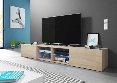 HIT2 double 200 cm Sideboard Lowboard TV Fernsehschrank inkl LED Highboard - Vorschau 4
