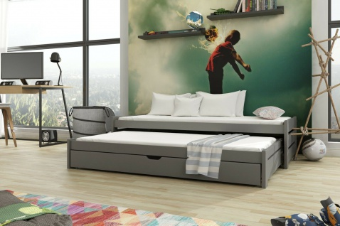 Kinderbett Doppelbett ANIS 90x190 unschädlich lackiert, diverse Farbauswahl