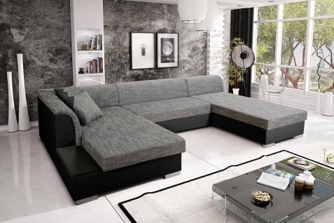 Sofa Couchgarnitur Couch KRETA 6 Polsterecke Wohnlandschaft mit Schlaffunktion