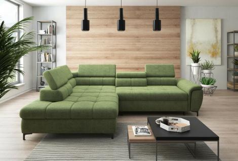 DENVO Schlaffunktion Wohnlandschaft Relaxfunktion Couchgarnitur Couch Eck Sofa