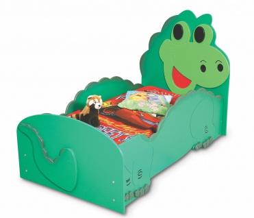 Kinderzimmer Bett Kinderbett DINO small grün Matratze Lattenrost 80x160 NEU