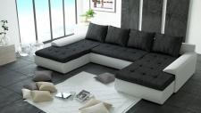 Couchgarnitur Ecksofa Sofagarnitur Sofa FUTURE 2.1 Wohnlandschaft Couch EK26 B02