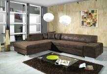 Couch Couchgarnitur Sofa Garnitur Schlafsofa OSCAR mit Schlaffunktion L Form NEU