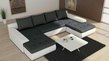 Couch Garnitur Ecksofa Eckcouch Sofagarnitur Sofa FUTURE 2.1 U Wohnlandschaft