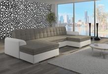 Couch Couchgarnitur Sofa Polsterecke VET 10 Wohnlandschaft mit Schlaffunktion
