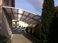 Terrassendach Terrassenüberdachung Seitencarport Leimholz 5, 4 Meter x3, 35 Meter
