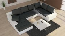 Couchgarnitur Wohnlandschaft Ecksofa Eckcouch Sofagarnitur Sofa FUTURE 2 U BED