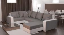 Couch Garnitur Ecksofa Sofagarnitur Sofa PALIO 2 U Wohnlandschaft Schlaffunktion