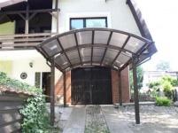 CARPORT Leimholz Leimbinder 5, 4 Meter x 3, 30 Meter Doppelstegplatten
