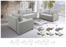 Sofa SET 3+2+1 BUFFALO mit Schlaffunktion Couchgarnitur Couch Sofagarnitur Wohnl