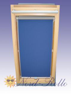 Abdunkelungsrollo Rollo Thermo blau für Velux DG/RG-EP VL,VG,VX 107 ALU