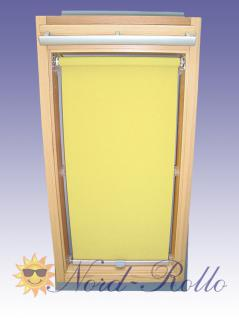 Abdunkelungsrollo Rollo für Rooflite F6A 66x118 gelb