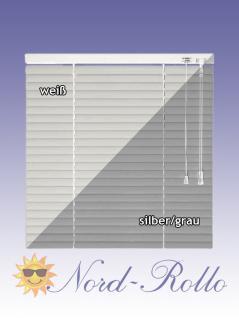 Alu-Aluminium Jalousie Rollo Jalousette 125 x 110 cm / 125x110 cm in Farbe weiss oder silber