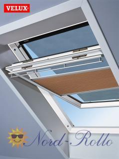 Original Velux Hitzeschutz-Set-Duoline Faltstore Markise FOP S10 1049S beige/schwarz für GGL/GPL/GHL/GTL/GXL S10/610