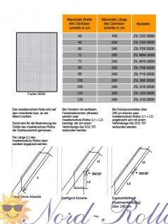 Original Velux Insektenschutzrollo für GGU/GPU/GHU/GTU/GXU C04/C06/104 - ZIL CK06 0000 - Netz grau - Vorschau 4