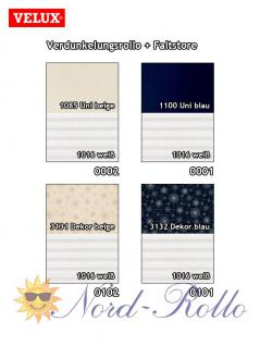 Original Velux Vorteils-Set Verdunkelungsrollo & Faltstore DFD F04 0001S dunkelblau/weiß für GGU/GPU/GHU/GTU/GXU F04 - Vorschau 3