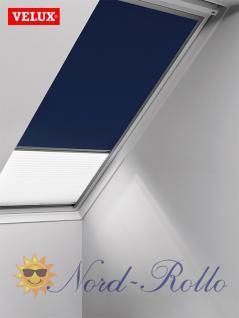 Original Velux Vorteils-Set Verdunkelungsrollo & Faltstore DFD F04 0001S dunkelblau/weiß für GGU/GPU/GHU/GTU/GXU F04