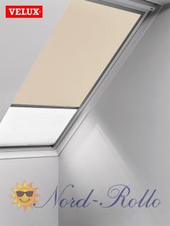 Original Velux Vorteils-Set Verdunkelungsrollo & Faltstore DFD S04 0002S beige/weiß für GGU/GPU/GHU/GTU/GXU S04
