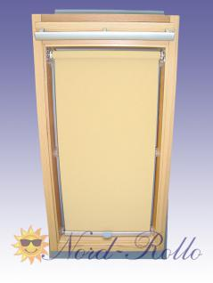 Sichtschutzrollo Rollo für Braas Kunststoff Typ 105/150 creme