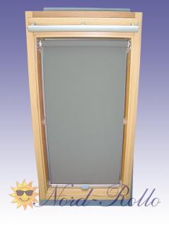 Sichtschutzrollo Rollo für Braas Holz Typ BK+BL 70/80 grau