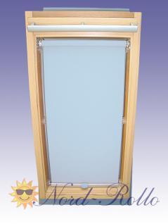 Sichtschutzrollo Rollo für Braas Kunststoff Typ 100/120 hellblau