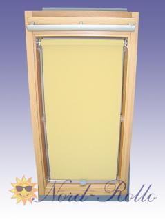 Sichtschutzrollo Rollo für Braas Kunststoff Typ 130/150 hellgelb-creme