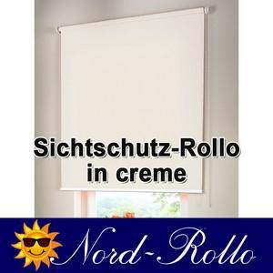 Sichtschutzrollo Mittelzug- oder Seitenzug-Rollo 222 x 190 cm / 222x190 cm creme - Vorschau 1