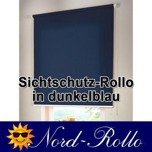 Sichtschutzrollo Mittelzug- oder Seitenzug-Rollo 222 x 130 cm / 222x130 cm dunkelblau