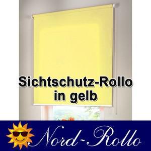 Sichtschutzrollo Mittelzug- oder Seitenzug-Rollo 222 x 220 cm / 222x220 cm gelb - Vorschau 1