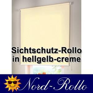 Sichtschutzrollo Mittelzug- oder Seitenzug-Rollo 202 x 130 cm / 202x130 cm hellgelb-creme