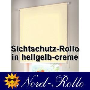 Sichtschutzrollo Mittelzug- oder Seitenzug-Rollo 222 x 220 cm / 222x220 cm hellgelb-creme