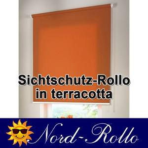Sichtschutzrollo Mittelzug- oder Seitenzug-Rollo 220 x 170 cm / 220x170 cm terracotta