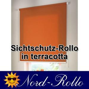 Sichtschutzrollo Mittelzug- oder Seitenzug-Rollo 222 x 110 cm / 222x110 cm terracotta