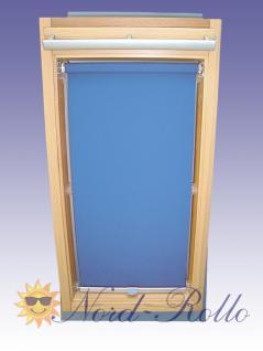 Sichtschutzrollo Rollo für Braas Holz Typ BK+BL 100/80 mittelblau