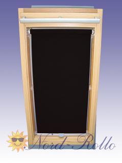 Sichtschutzrollo Rollo mit Haltekrallen für Roto 735 - 6/14 schwarz