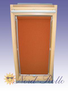 Sichtschutzrollo Rollo mit Haltekrallen für Roto 735 - 11/11 terracotta