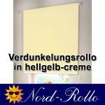 Verdunkelungsrollo Mittelzug- oder Seitenzug-Rollo 130 x 210 cm / 130x210 cm hellgelb-creme