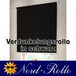 Verdunkelungsrollo Mittelzug- oder Seitenzug-Rollo 132 x 190 cm / 132x190 cm schwarz