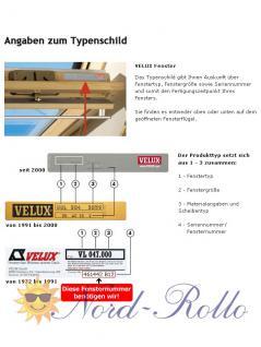 Original Velux Hitzeschutz-Set-Duoline Faltstore Markise FOP S10 1045S weiß/schwarz für GGL/GPL/GHL/GTL/GXL S10/610 - Vorschau 5