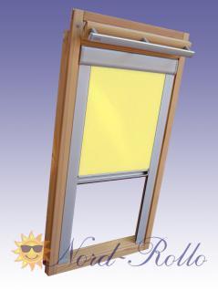 Verdunkelungsrollo Rollo mit Seitenschienen für Velux DKL-EP GGL, GPL, GHL, GTL 304 gelb