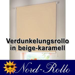 Verdunkelungsrollo Mittelzug- oder Seitenzug-Rollo 202 x 180 cm / 202x180 cm beige-karamell - Vorschau 1