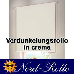 Verdunkelungsrollo Mittelzug- oder Seitenzug-Rollo 132 x 110 cm / 132x110 cm creme - Vorschau 1