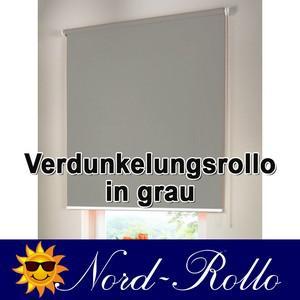 Verdunkelungsrollo Mittelzug- oder Seitenzug-Rollo 135 x 110 cm / 135x110 cm grau - Vorschau 1