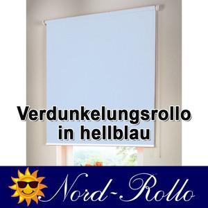 Verdunkelungsrollo Mittelzug- oder Seitenzug-Rollo 242 x 140 cm / 242x140 cm hellblau