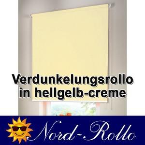 Verdunkelungsrollo Mittelzug- oder Seitenzug-Rollo 242 x 110 cm / 242x110 cm hellgelb-creme