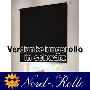 Verdunkelungsrollo Mittelzug- oder Seitenzug-Rollo 222 x 160 cm / 222x160 cm schwarz